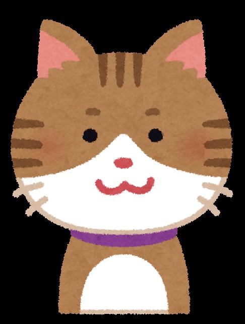 にっこりした猫