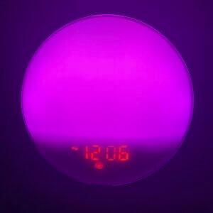 YABAE光目覚まし時計_紫