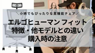 【レビュー】エルゴヒューマンフィットの特徴・他モデルとの違い・購入時の注意点【小柄でも使えた】